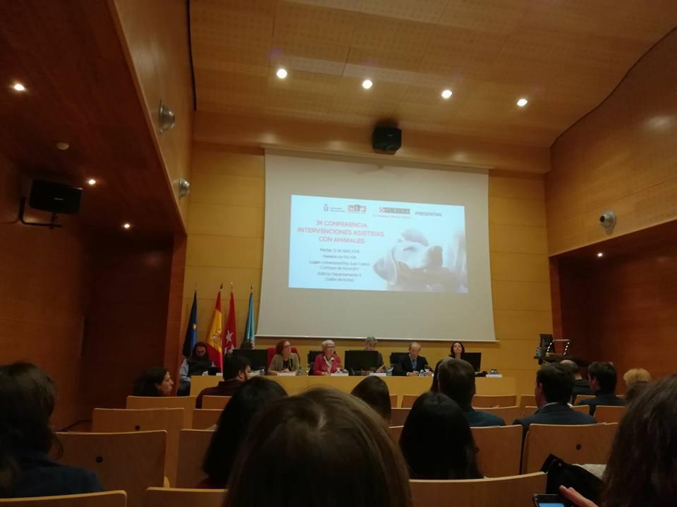 3ª conferencia en Intervenciones Asistidas con Animales de la Universidad Rey Juan Carlos